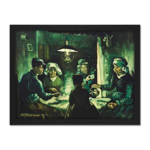 Eaters Van Vincent Gogh Potato The (Vincent Van Gogh The Potato Eaters Large Framed Art Print Poster Wall Decor 18x24)