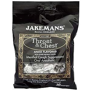 Jakemans, Throat & Chest, Anise Flavored, 30 Lozenges