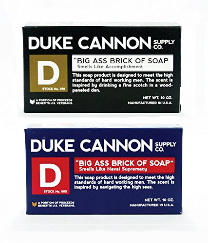 Duke Cannon Large Brick of Soap Pack – Naval Supremacy and Accomplishment – Made in USA