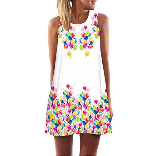 Prendisole Un Printed Floreale Abito Senza Donne Gioco White Sundress Women's Dress Line 2 Clearance Delle Stampato Sleeveless Estate Auwer Casuale Auwer A Summer Serbatoio Maniche Dress Di Casual 2 Bianca Tank Floral Vestito Linea gqwPC1