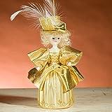 De Carlini Irene Adler in Gold Dress Italian Mouthblown Glass Christmas Ornament