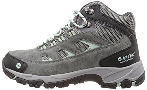 Hi-Tec Women's WN Logan Mid Waterproof Hiking Boot, Charcoal/Cool Grey/Lichen, 5 M US by Hi-Tec (Image #5)