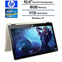 2018 Latest HP Flagship Convertible 2in1 15.6 inch Touchscreen FHD IPS Laptop (1920 x 1080), Intel Core i7-8550U (Up to 4GHz), 1TB HDD, 8GB DDR4 SDRAM, 2GB Radeon 530 Dedicated, Win 10, 2Year Warranty