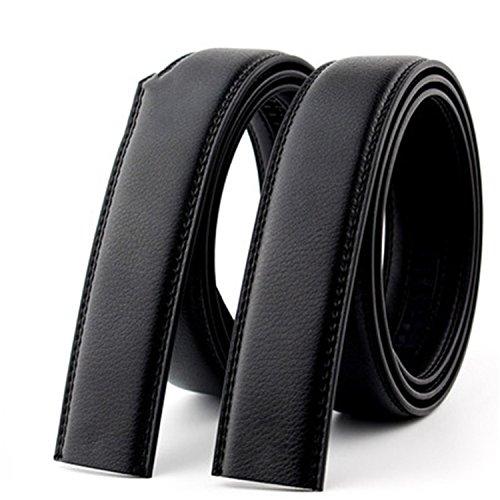 Belts For Men Automatic Male Belts Cummerbunds Leather Belt Men Black Belts 105cm-125cm ZD-without buckle 120cm 35to37 Inch
