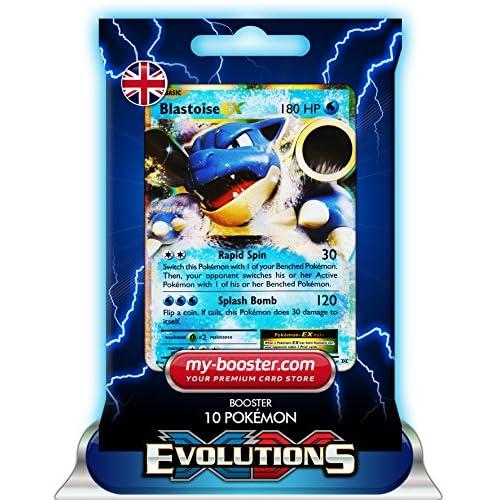 BLASTOISE EX (Tortank) 21/108 180HP XY12 EVOLUTIONS - Booster de 10 cartes Pokemon anglaises my-booster