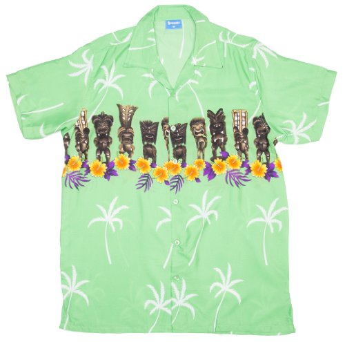 ragstock-mens-tiki-figure-print-hawaiian-aloha-shirt-green-medium