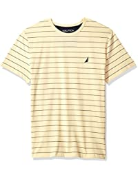 Men's Short Sleeve Striped Crew Neck T-Shirt