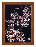 """Cutout picture Japanese art collage KIRIE """"Todaiji Kongorikishi"""" Vajradhara(a Deva king who is a guardian of the Buddha) Made by Washi(Japanese paper) Yuzen Heian, 13"""" x 18"""""""
