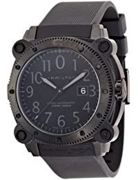 Men's H78585333 Khaki Navy BelowZero Black Dial Watch
