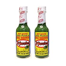 El Yucateco Green Chile Habanero Hot Sauce, 4 oz (Pack of 2)