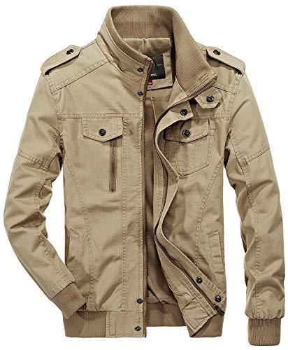 Collar De Battercake Khaki Los Hombre Outwear Exterior para Bomber De Ntel Ocio Los De Ligero De Algodón Otoño Hombres Chaquetas Cómodo Soporte Hombres del Peso Chaquetas d84q8C