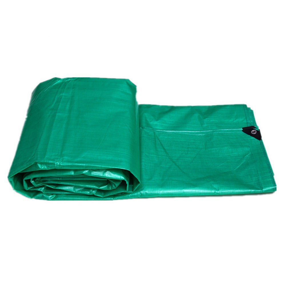 A 4 x 5m CAOYU Rembourré étanche et imperméable à la Pluie crème Solaire bÂche entrepôt Camion Hangar Tissu extérieur Parasol Anti-poussière Coupe-Vent, Vert