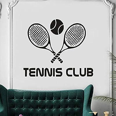 ONETOTOP Vinilo Pegatina Club de Tenis Tatuajes de Pared Raqueta ...