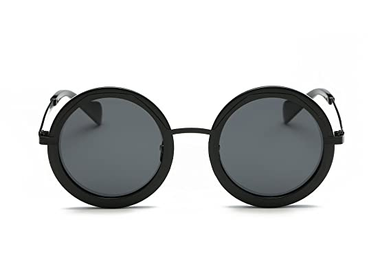 a5c4eb82eec Weidan classic hippie fashion round box polarized sunglasses men and women  920 (Black frame