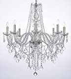 Crystal Chandelier Lighting 33ht X 28wd 8 Lights Fixture Pendant Ceiling Lamp Review