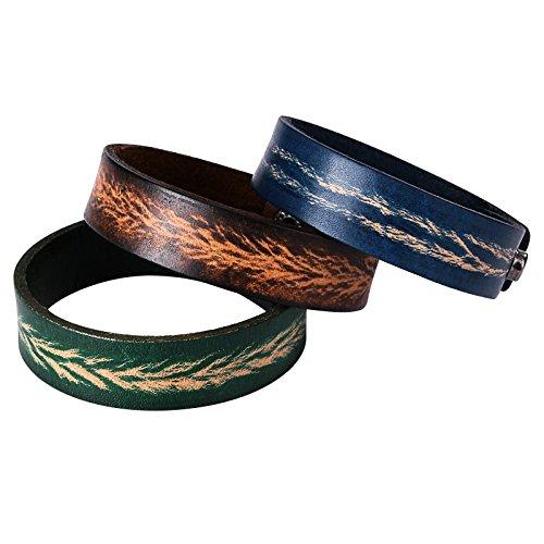 Leather Bracelet for Men Bangles Cuff for Women Wristbands Adjustable for 3 (Gabbana Tiger)