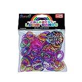 ASAH Colour Loom Bands 300pce + 16 S Clips - Glitter Mixed