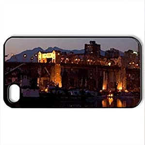 Beautiful Lights - Case Cover for iPhone 4 and 4s (Bridges Series, Watercolor style, Black)