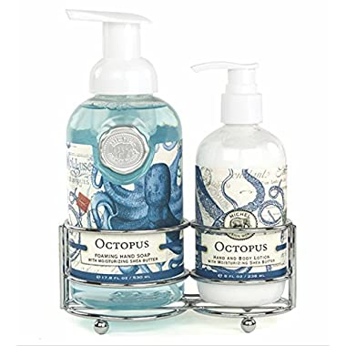 Michel Design Works Foaming Hand Soap and Lotion Caddy Gift Set, Octopus