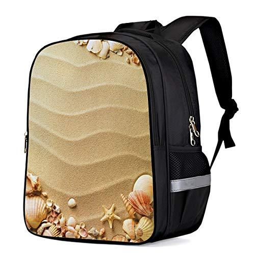 Nautical Beach Tropical Hawaiian Seashells Seaside Sea Stars Oysters Maldives Romantic Vacation Sand Theme Backpack Shoulder Computer Bag,School Bags for Boys Girls,Large Capacity Daypack 16'11'6.7 (Satchel Oyster)