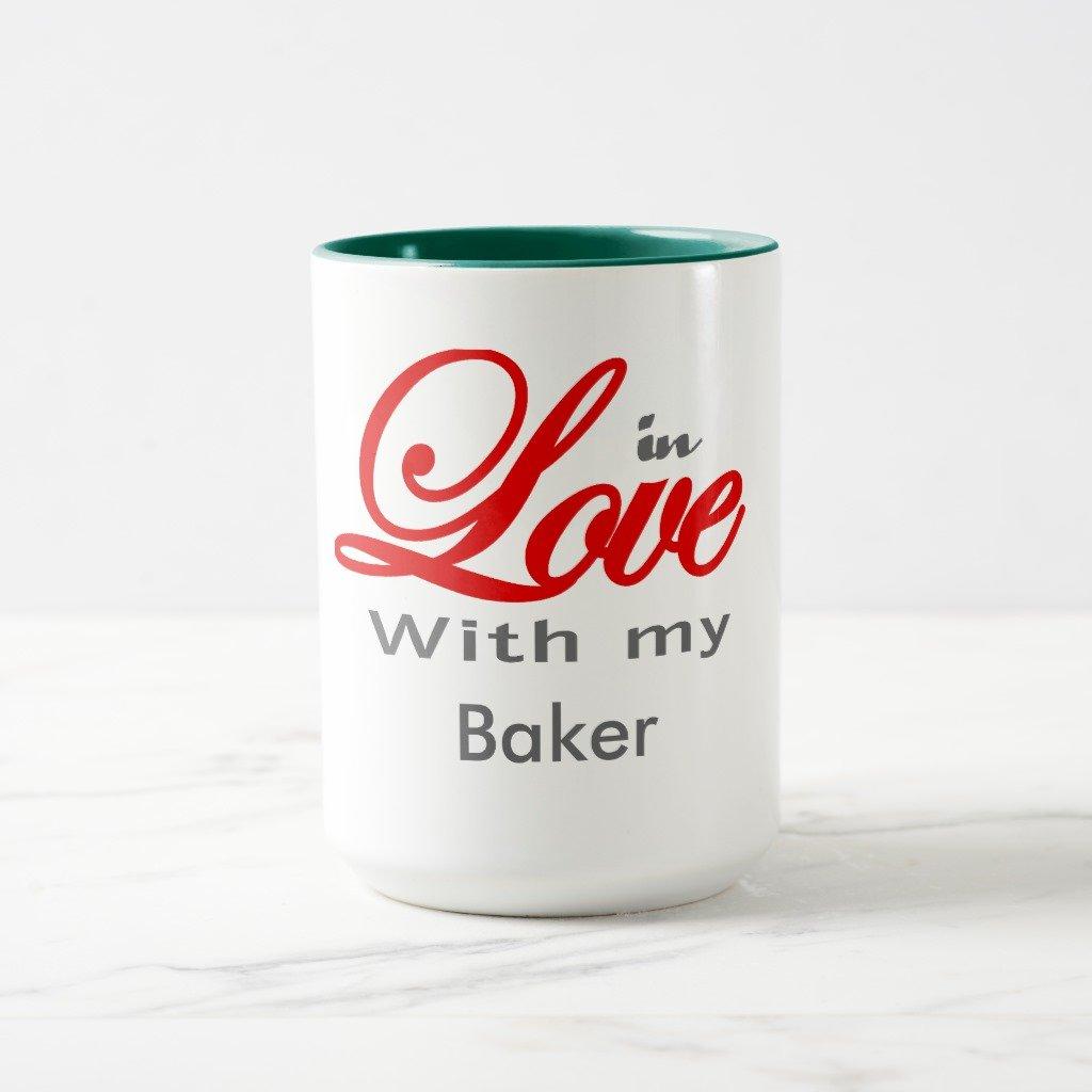 Zazzle in Love with my Baker旅行マグ 15 oz, Combo Mug グリーン 27faeb9a-4c6b-104a-6aa1-4ba7204934cd B078VYTD44 15 oz, Combo Mug|ハンターグリーン ハンターグリーン 15 oz, Combo Mug