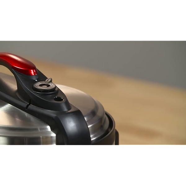 IMUSA USA 5Qt Electric Stainless Steel 5-Qt. Bilingual Digital Pressure Cooker, Red (Insta-Pot) 7