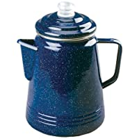Easily brew fresh, hot coffee on your outdoor adventures with the Coleman Enamelware Percolator, 14 Cup. It's made from double-coated enamel that resists cracks and easily wipes clean. It features a stainless steel rim that prevents chipping ...