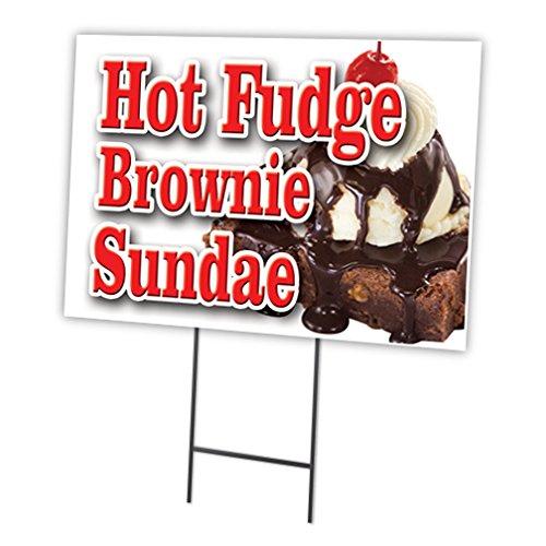 HOT Fudge Brownie Sundae 12