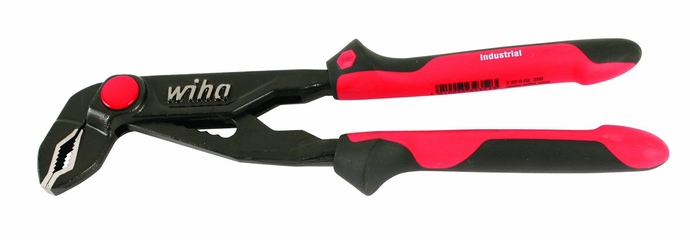 Wiha 30943 10 Inches Ergo Soft Grip Industrial Push Button Water Pump Pliers
