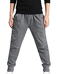 AOWKULAE Boys Sports Pants Cotton Sweatpants Jogging Trouser with Drawstring