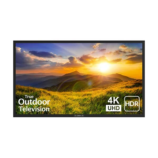 SunBrite 55-Inch Outdoor Television 4K with HDR - Signature 2 Series - for Partial Sun SB-S2-55-4K-BL (55-inch, Black) 1
