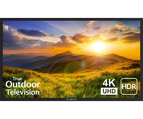 Photo SunBrite 55-Inch Outdoor Television 4K with HDR - Signature 2 Series - for Partial Sun SB-S2-55-4K-BL (55-inch, Black)