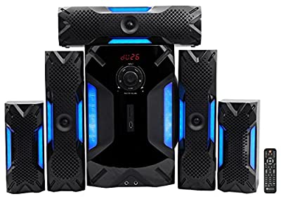 "Rockville HTS56 1000w 5.1 Channel Home Theater System/Bluetooth/USB+8"" Subwoofer from Rockville"