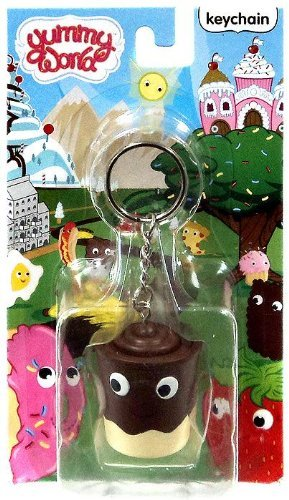 Yummy World Kidrobot 3D Vinyl Keychain (Pudding Cup) ()