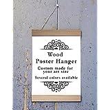 Poplar Wood Poster Hanger, Custom size Art Hanger, poster frame, picture hanger, Natural Poplar Wood, Handmade Frame