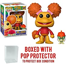 Funko Pop Television: Fraggle Rock - Red with Doozer Collectible Vinyl Toy + Pop Protector
