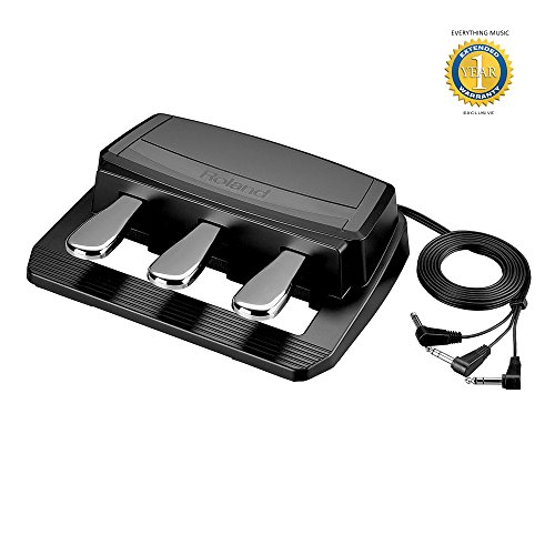 Roland RPU-3 3-pedal Piano Pedal with 1 Year EverythingMusic Extended Warranty Free by R O L A N D