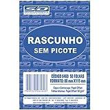 Bloco Para Rascunho Sem Picote 80x115 50 Folhas - Pacote com 40, São Domingos, 6460-3, Multicor
