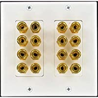 16 Post 8 speaker Wall Plate