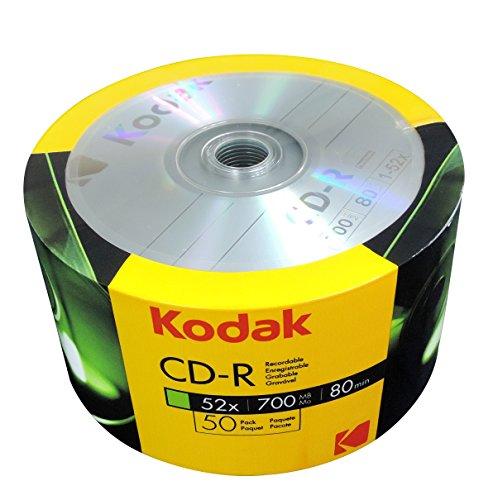 KODAK CD-R 52x 700MB 50-Value Pack by Kodak