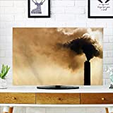 Auraisehome Proteja su TV metálico tecnológico artes robotizadas futuro imaginación Clockwork ciencia moderna imagen plata proteger su TV W19 x H30 pulgadas/TV 32 pulgadas, Color08, W19 x H30 INCH/TV 32'