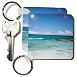 3dRose Lovely Clear Ocean Key Chains, Set of 2 (kc_22276_1)