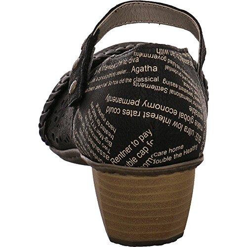 Cerrados Negro 41756 Tacón De Sintético Material Zapatos Mujer Rieker 4Fqzw7w