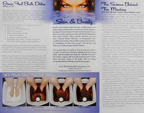 FOOT SPA DETOX MACHINE - With Foot Basin - FREE Regain Health and Vitality Brochure and 16 page Booklet. - From Better Health Company by BHC (Image #3)
