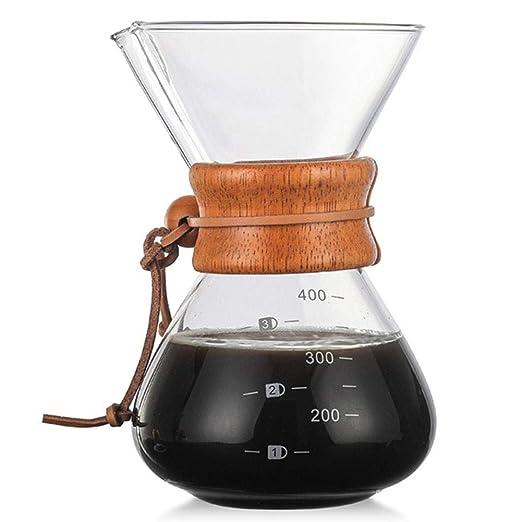 EZIZB Pour Over Coffee Maker, Borosilicato Cafetera De Goteo ...