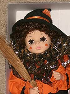 "Brinn's 1988 October calendar Clown Doll Orange/Black - 14"""