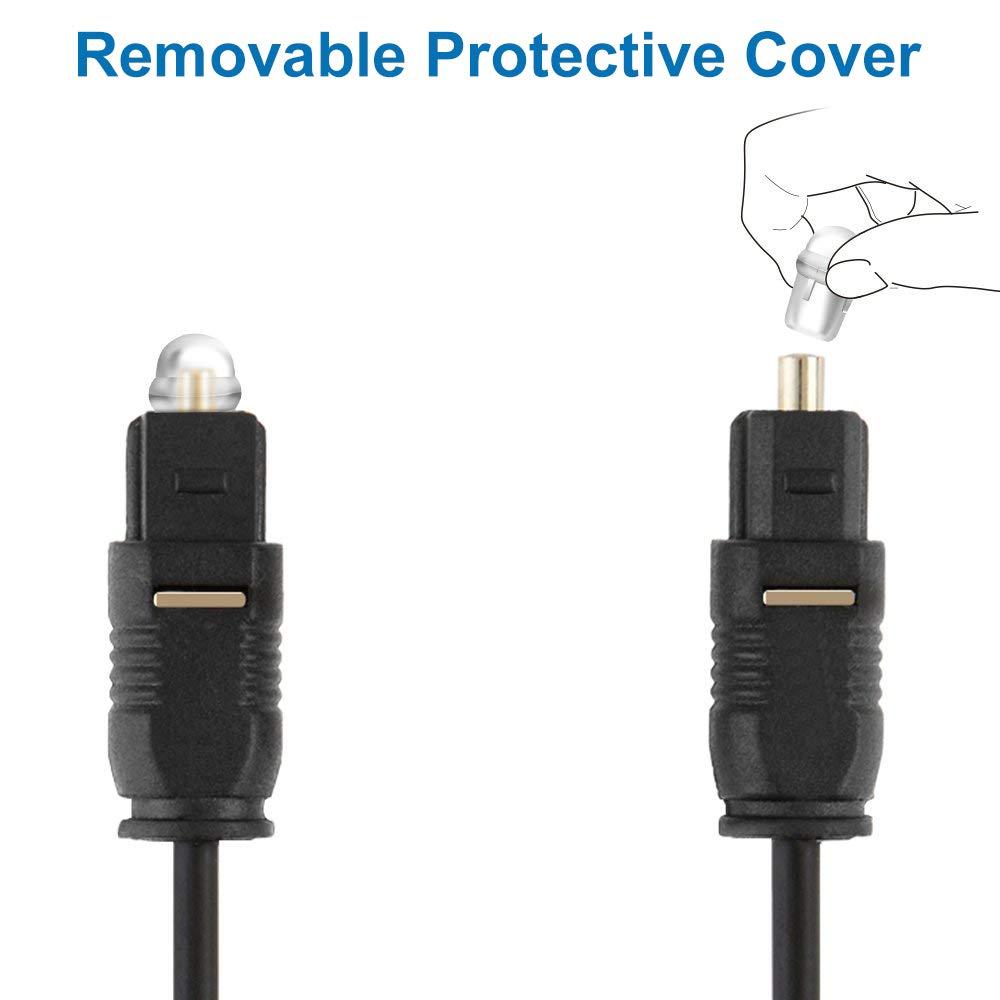Soundbar MMOBIEL Digital Optical Audio toslink Cable Fiber Optic Cable OD:4.0 for TV DAT PS3/AV Receiver Black