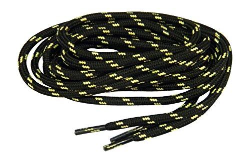 Greatlaces Svart W / Gul Kevlar Protough (tm) Förstärkt Tunga Kängsnören Skosnören (två Par Pack)