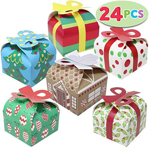 24 Pieces 3D Christmas Goody Gift Boxes with