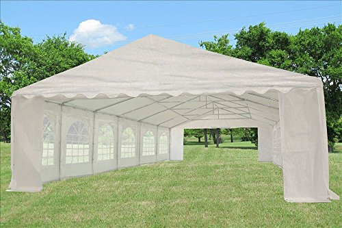 40×20-PE-Tent-White-Heavy-Duty-Party- & 40u0027x20u2032 PE Tent White u2013 Heavy Duty Party Wedding Canopy Carport ...